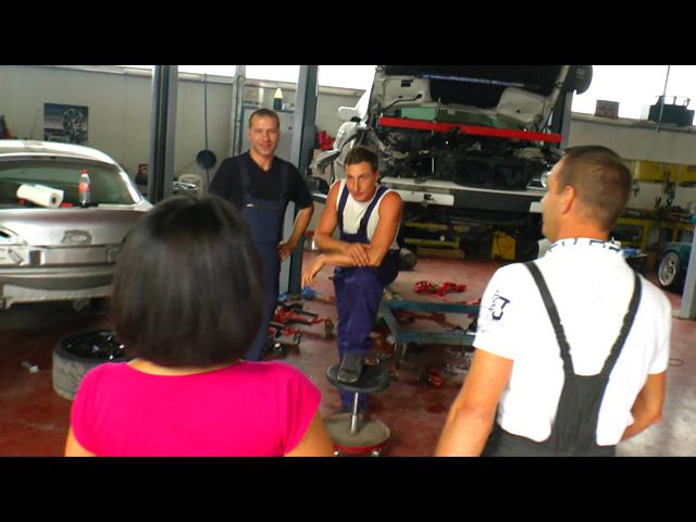 The PORNO- auto repair shop