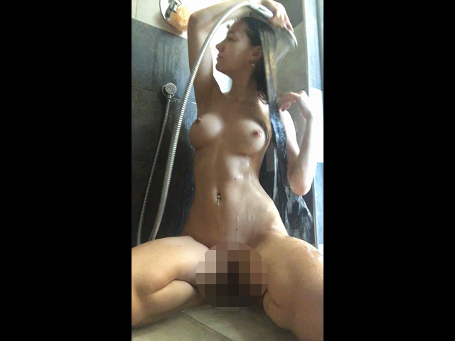 Shaving pussy shower video