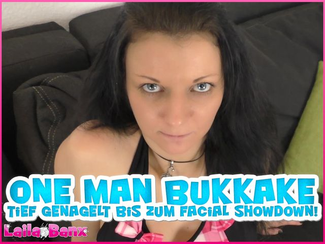 One Man Bukkake - Nailed deep to the Facial Showdown!