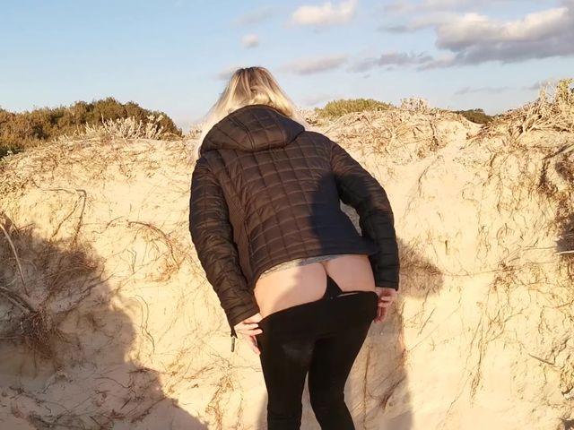Public am Strand gepisst!