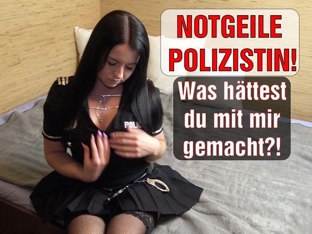 NOTGEILE Polizistin! Was hättest du mit mir gemacht?!