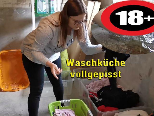 Waschküche vollgepisst