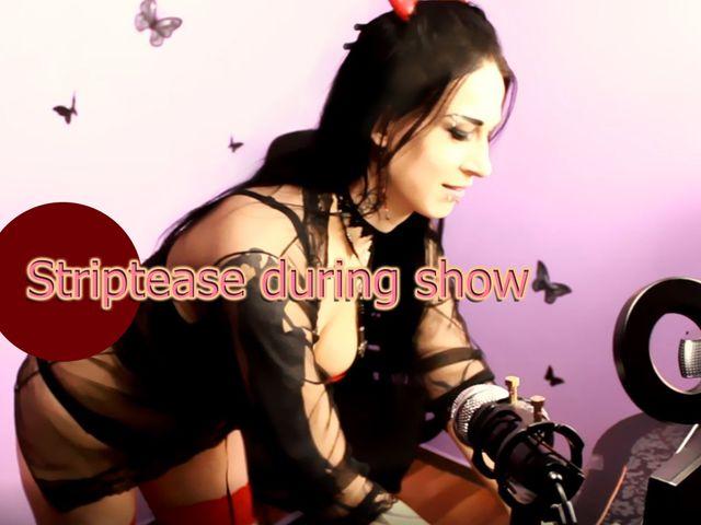 Striptease während der Show