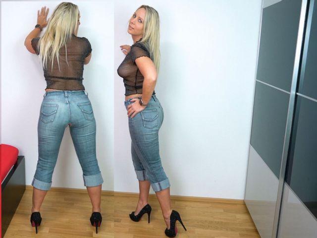 Arschgeiler verfickter Jeans Aufriss mit XXL Schwanz