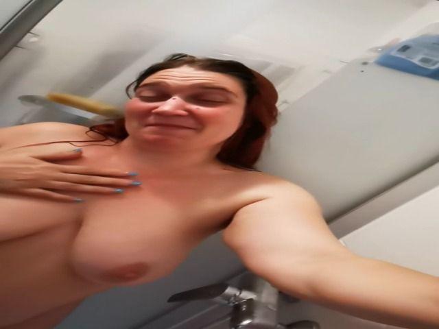 In der Dusche Gesichtsbesamung